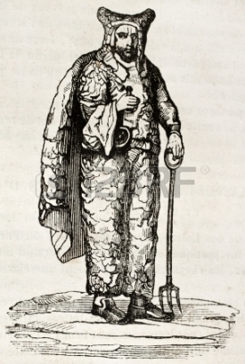 15204032-old-engraved-portrait-of-john-bigg-the-dinton-hermit-by-unidentified-author-published-on-magasin-pit