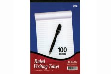 ruled writing tablet