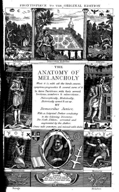Burton - Anatomy of melancholy frontispiece