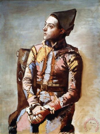 the_seated_harlequin_1923