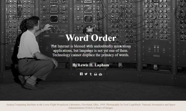Lapham Word Order